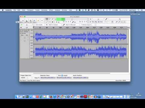Using Audacity to adjust or change the key or pitch on recorded tracks