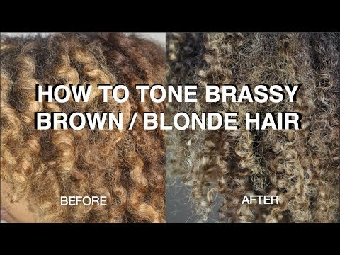 How To Tone BRASSY DARK Hair And ANY Shade Of BLONDE Hair