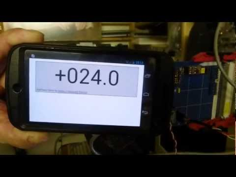 Remote room temperature display on a Smart-Phone using SitePlayer