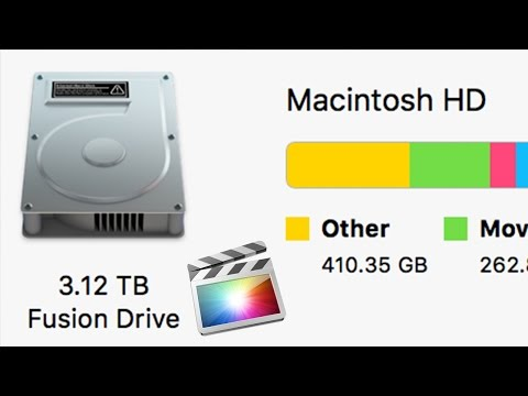 Deleted FCPX files/videos but space is still taken - Clear up space on hard drive Storage