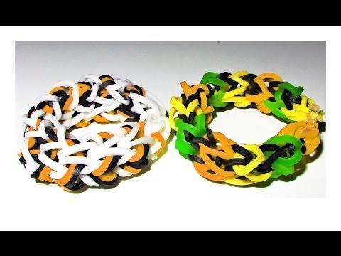 EASY Loom / Bands: How to Make a Rainbow Loom Dragon Bone Bracelet