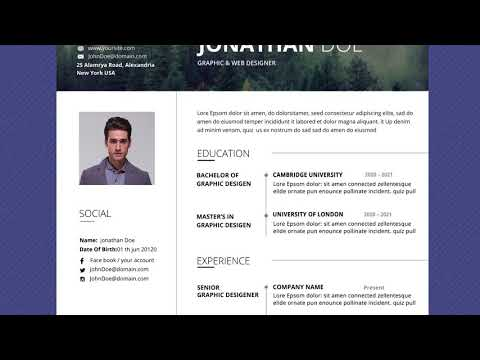 Free Professional Resume Template - Fog Forest