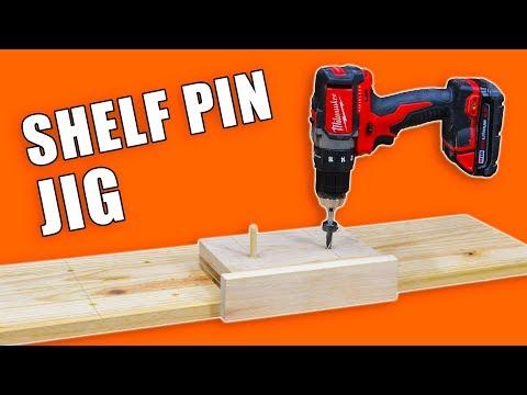 Jig for Drilling Shelf Pin Holes / Shelf Pin Jig