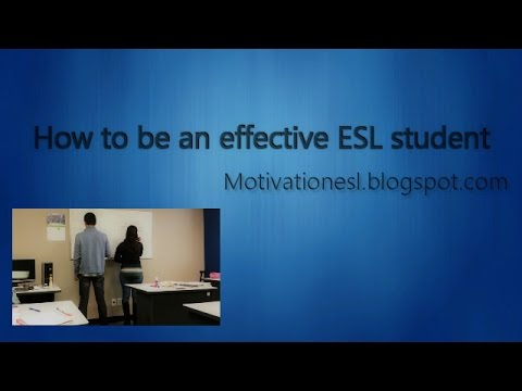 How to be an effective ESL student