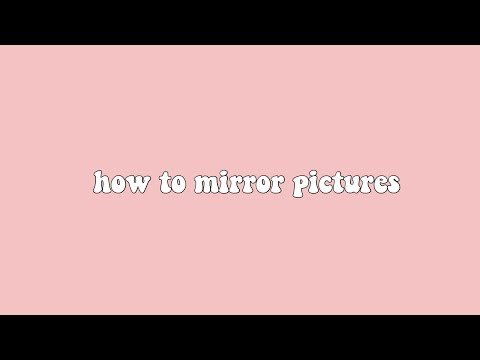 how to mirror pictures (picsart)