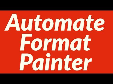 Automate Format Painter