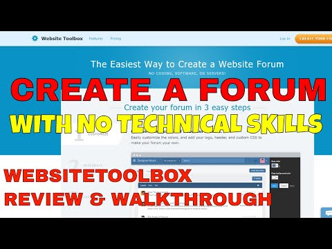 How to Build Your Own Community Forum with No Technical Skills Using WebsiteToolBox | Review