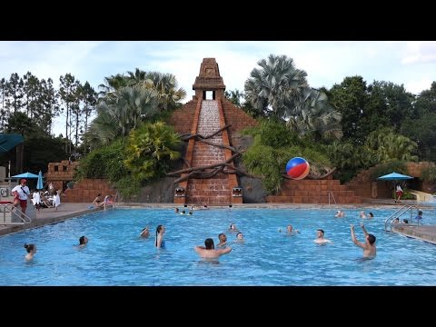 Poolside at the Coronado Springs and Polynesian Village Resorts, Walt Disney World Resort