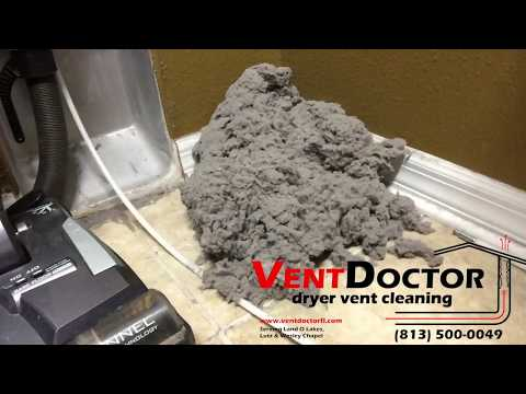 Vent Doctor - Dryer Vent Cleaning with Rotary Brush and Vacuum System
