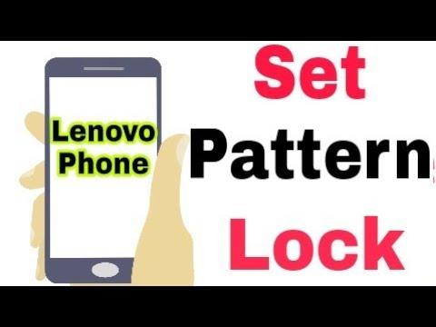 Lenovo Mobile    How To Set Add Pattern Lock in Lenovo Phone