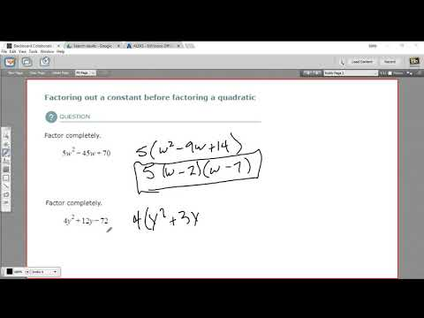 Factoring out a constant before factoring a quadratic