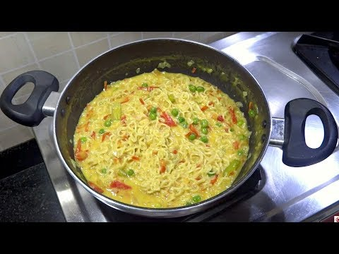 Cheese Maggi Recipe | Maggi Recipe in Hindi | Street Style Maggi Masala Recipe | KabitasKitchen