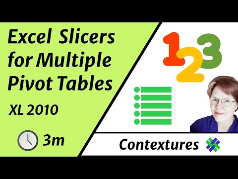 Connect Slicers to Multiple Excel 2010 Pivot Tables