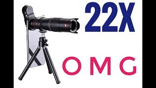 22x Telephoto zoom telescopic phone lens in-depth review