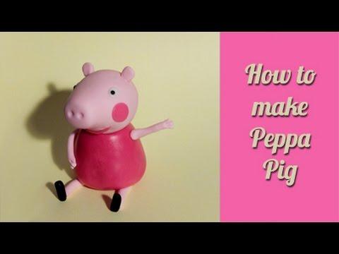How to make Peppa pig fondant cake topper / Jak zrobić świnkę Peppa z masy cukrowej