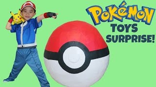 Pokemon Giant Toys Surprise Egg Opening Unboxing Fun With Ash Ketchum Pikachu Ckn Toys