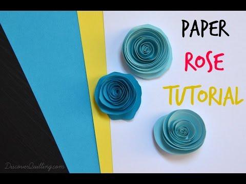 DIY Paper Quilling Rose Tutorial