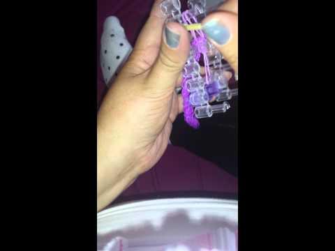 Crohns or any charity ribbon loom keyring