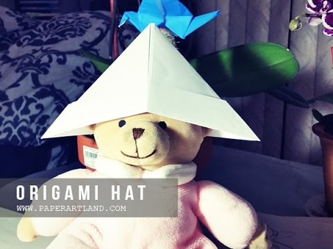 ORIGAMI for KIDS - How to make a PAPER HAT that you can wear | Origami Hat