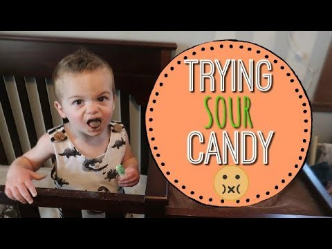 TODDLERS FIRST TIME TRYING SOUR CANDY!