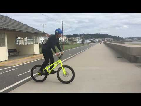 Street trials riding on inspired bike