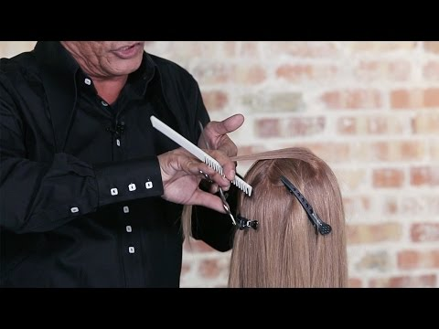 How To Cut Soft Layers in Longer Hair - Create Volume in the Crown