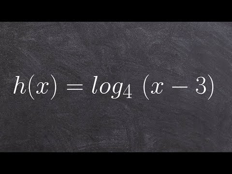 Find the X intercept of a logarithm with a horizontal shift