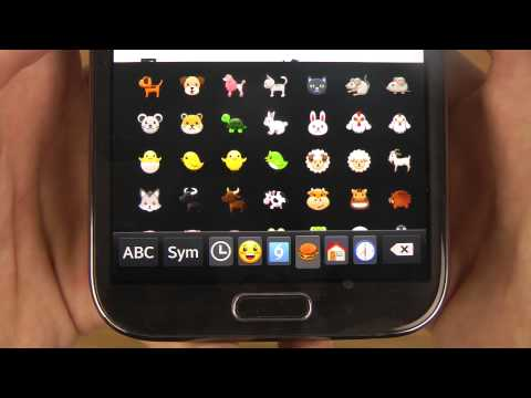 Samsung Galaxy Note 2 Android 4.4.2 KitKat - Emoji Keyboard Review