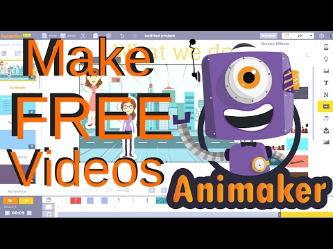 HOW TO MAKE FREE ANIMATION VIDEOS 2017 - Drag and Drop Animation Website - Animaker Review