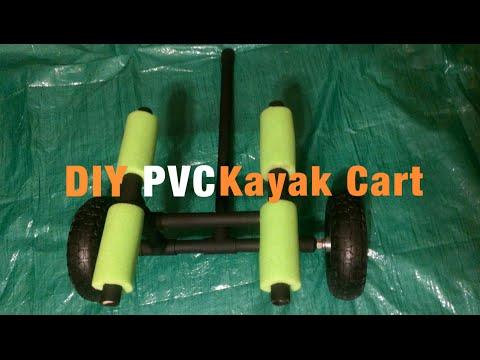 Homemade PVC Kayak Cart For Under $25!