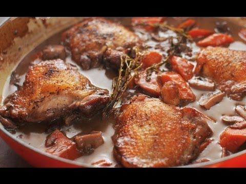 How to Make Coq au Vin (Chicken and Wine)