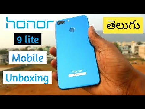 Honour 9 Lite unboxing and review || in Telugu