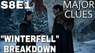 "S8E1 ""Winterfell"" Breakdown - Game of Thrones Season 8 Episode 1 (The Final Season)"