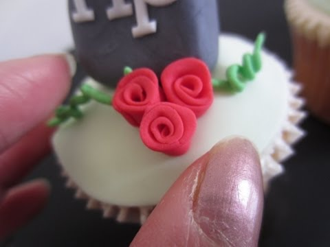 How to Make Miniature Fondant Ribbon Roses for Cupcake Toppers