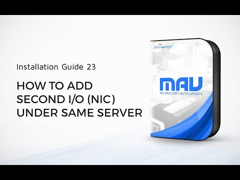 23  MichaelSoft Cybercafe Diskless System(MAU)-How To Add Second IO(NIC) Under Same Server
