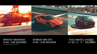 Faraday Future FF 91 Vs TESLA Vs Ferrari Vs Bentley Bentayga Faraday FF 91 Drag Race CARJAM