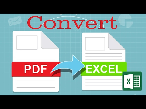 Easy Way To Convert PDF File Into Excel File Format