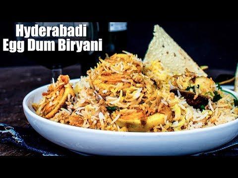 Hyderabadi Egg Dum Biryani Recipe | Restaurant Style Egg Dum Biryani | Easy Anda Biryani