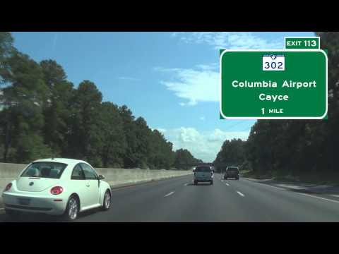 I 26 East Through Columbia, SC