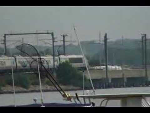 Acela Commuter Train at Mystic Seaport,CT Bridge