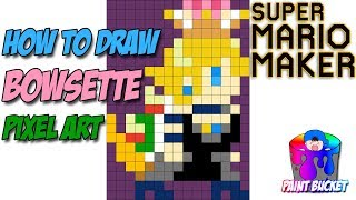 How to Draw Super Mario Odyssey - Explorer Mario - 8-Bit Mario Pixel