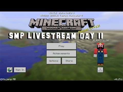 Minecraft PE Realms SMP Realms Livestream Day 11 (MCPE 0.15.1 Multiplayer)