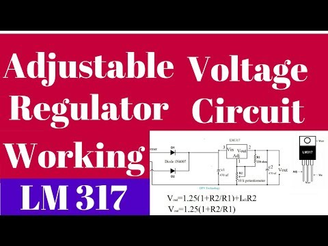 LM317 adjustable voltage regulator tutorial | variable voltage regulator circuit explanation