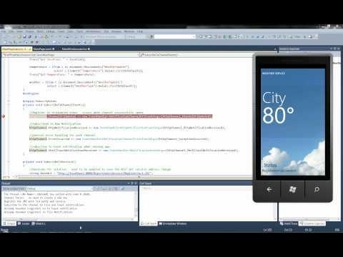 Weather broadcast Using Push Notifications in Windows Phone (mango) 7.1 SDK