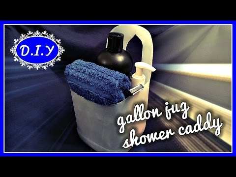 D.I.Y GALLON JUG SHOWER CADDY | The Starving Artist