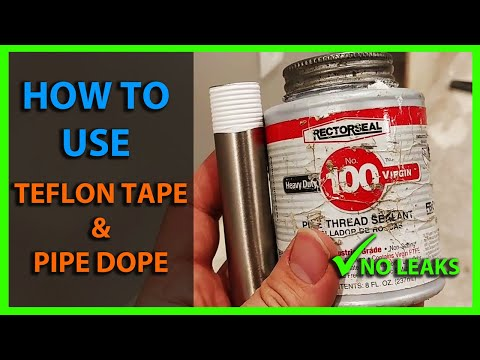 How To Use Teflon Tape & Pipe Dope on Water Lines - PTFE Thread Sealant Tape & Pipe Thread Sealant