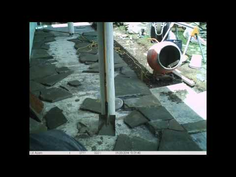 Crazy paving time lapse