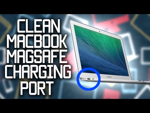Clean Macbook magsafe charging port