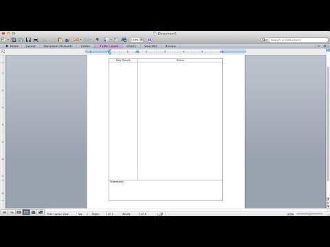 Cornell Notes Tutorial - How to make a Cornell Notes template using Microsoft Word