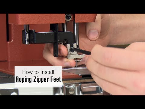 How to Install the Left and Right Roping Zipper Feet on Ultrafeed LS-1